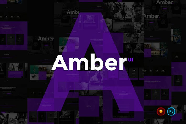 Thumbnail for Amber UI Kit