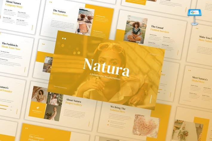 Thumbnail for Natura - Beautiful Fashion Keynote Template