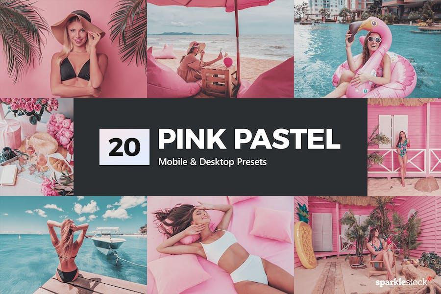 20 Pink Pastel Lightroom Presets & LUTs