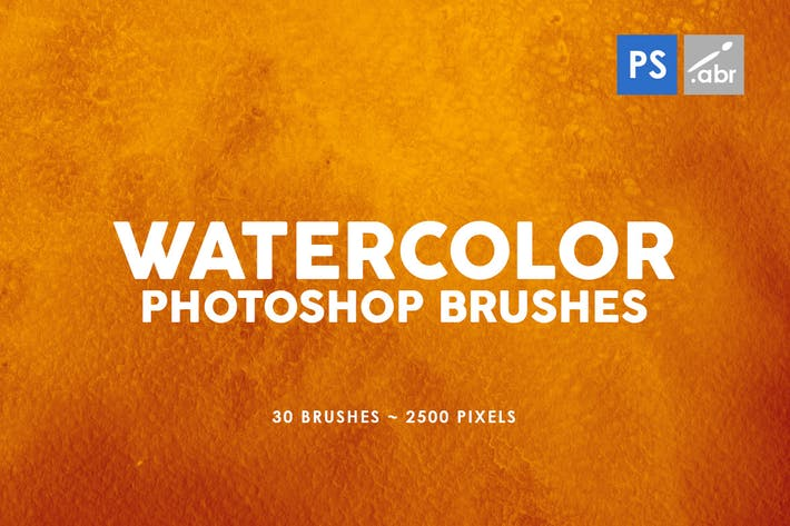 Thumbnail for 30 Watercolor Texture Photoshop Brushes Vol. 1