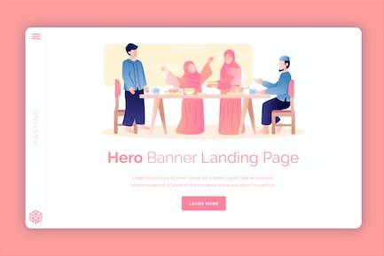 Fasting - Hero Banner Template