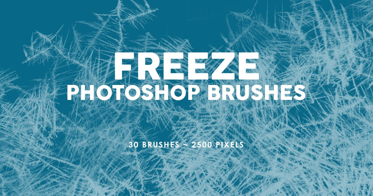 Download 30 Freeze Photoshop Stamp Brushes by M-e-f