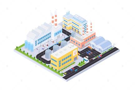 Industrial Complex - Isometric Illustration