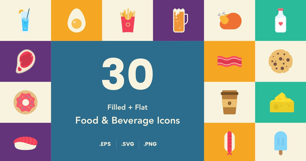 Download Food and Beverage Icon Set by Unknow