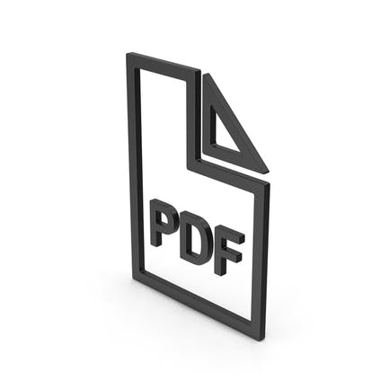 Symbol PDF File Black