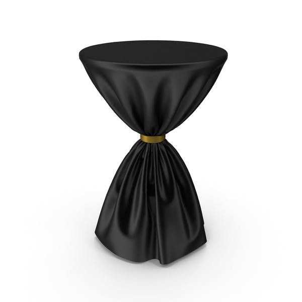 Black and Gold Silk Tablecloth Cocktail Table