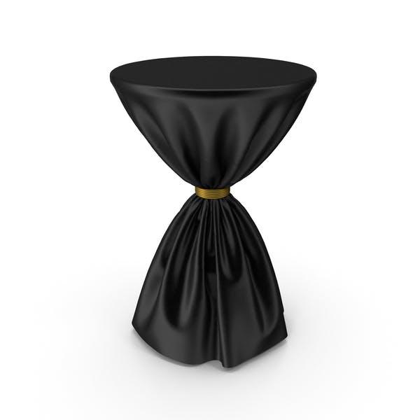 Thumbnail for Schwarzer und goldener Seiden-Tischdecke-Cocktail-Tisch