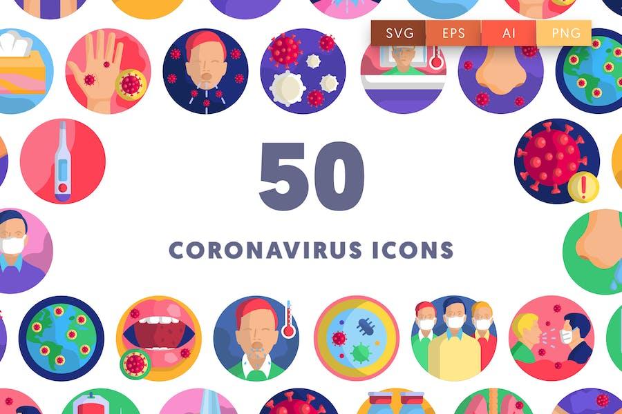 50 Coronavirus Icons