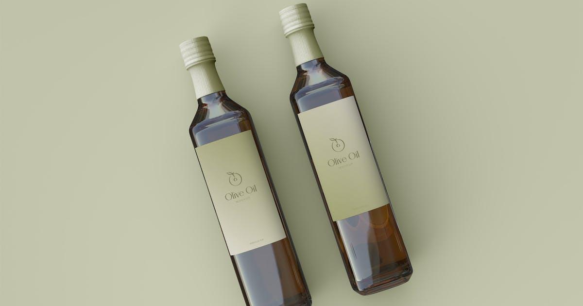 Download Two Olive Oil Bottle Mockup by megostudio