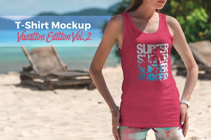 Thumbnail for T-Shirt Mockup Vacation Edition Vol. 2