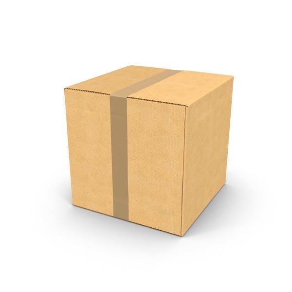 Thumbnail for Квадратная картонная коробка с лентой