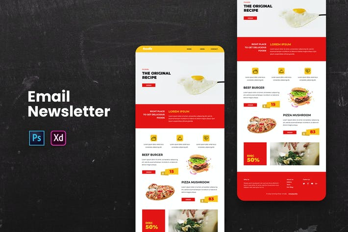 Thumbnail for Food Email Newsletter