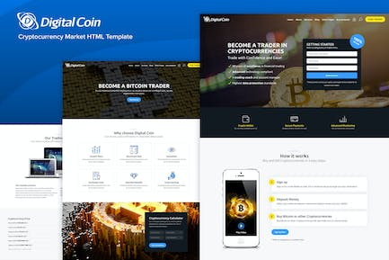 Digital Coin - Cryptocurrency Market Trading