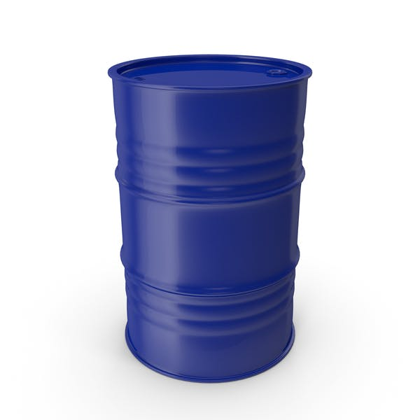 Metal Barrel Clean Blue
