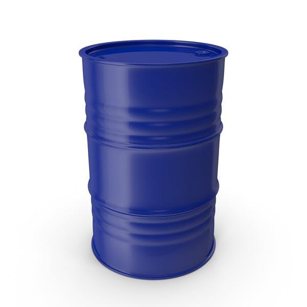 Barril de metal azul limpio
