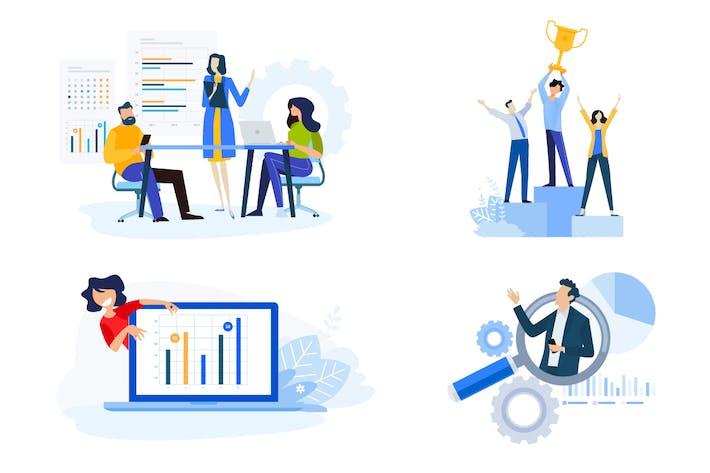 Thumbnail for Flat Design Konzepte der Marktforschung