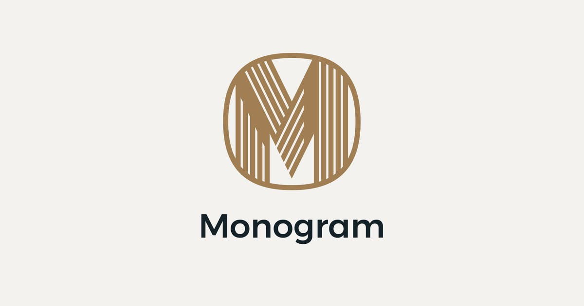 Download MO Geometric Monogram Logo by Mihis_Design