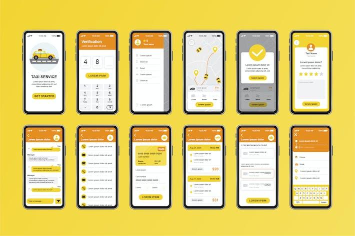 Thumbnail for Taxi Service Unique Mobile App UI Kit