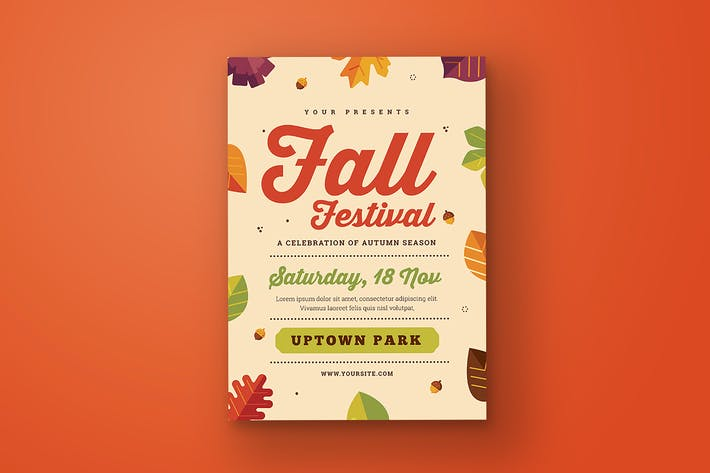 Cover Image For Fall Festival Flyer