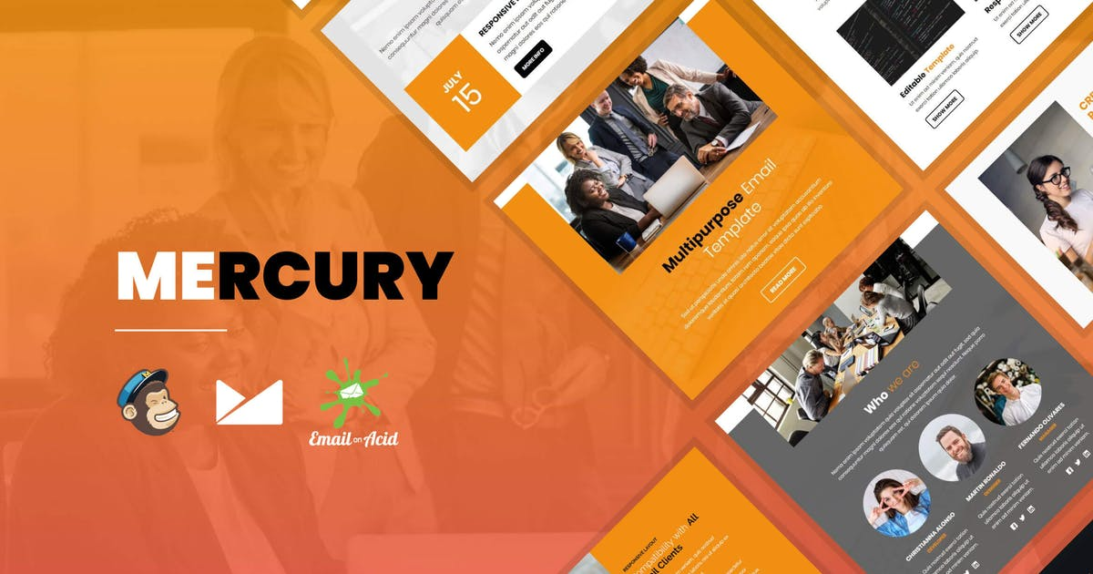 Download Mercury - Responsive Email Template for Startups by Psd2Newsletters