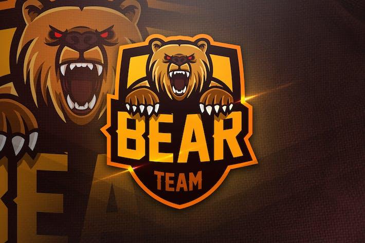 Thumbnail for Bear Team - Mascot & Esport Logo
