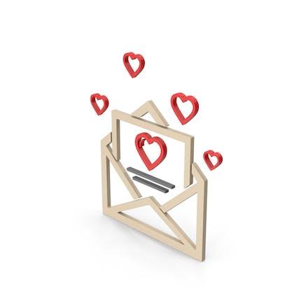 Symbol Love Letter Colored