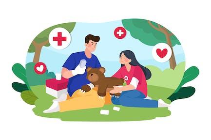 Rescue Animal Illustration Concept