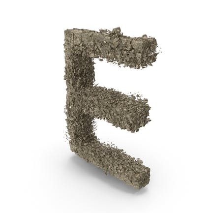Zerstörungsstein Buchstabe E