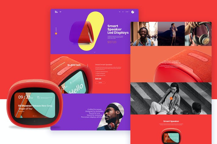 Thumbnail for Ne27 - smart Speaker store landing page template