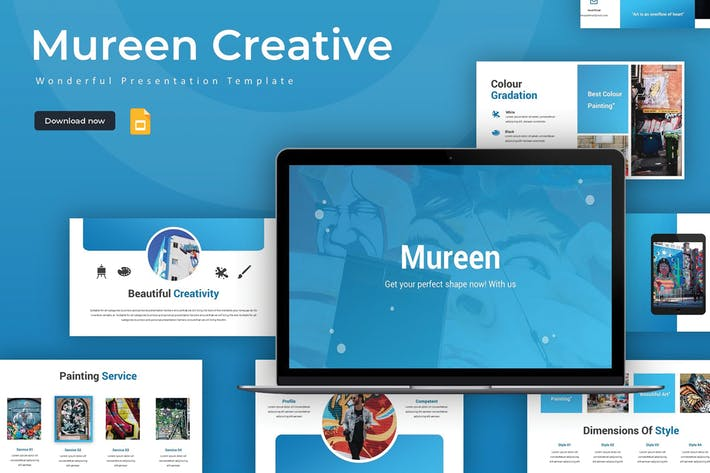 Thumbnail for Mureen - Google Slides Template