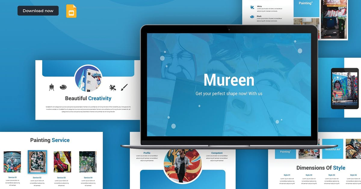 Download Mureen - Google Slides Template by SlideFactory
