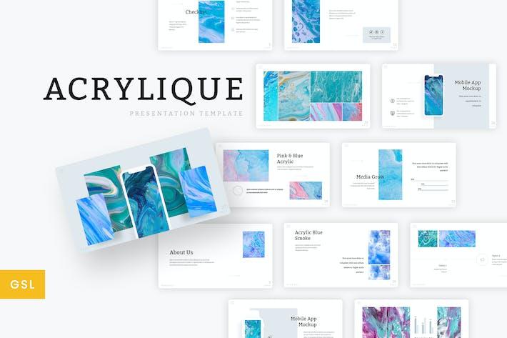 Thumbnail for Acrylique - Шаблон слайдов Google