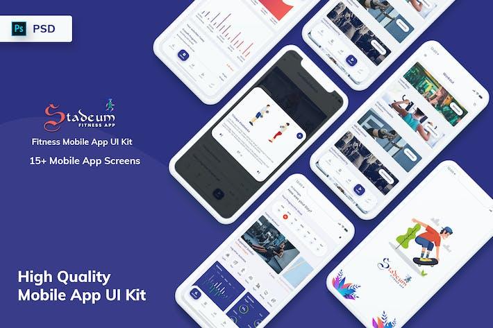 Thumbnail for Stadeum - Fitness Mobile App UI Kit (PSD)