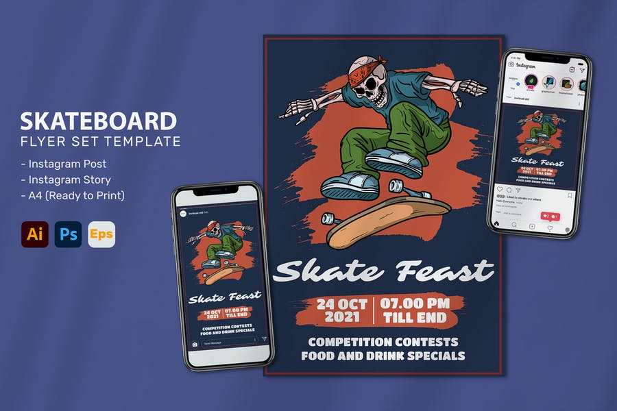 Skateboard Gang - Flyer Set
