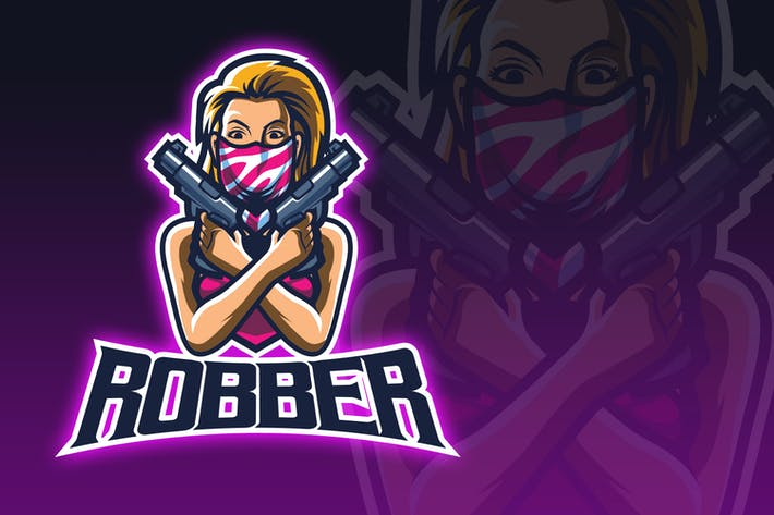Thumbnail for Robber Girl ESport Logo