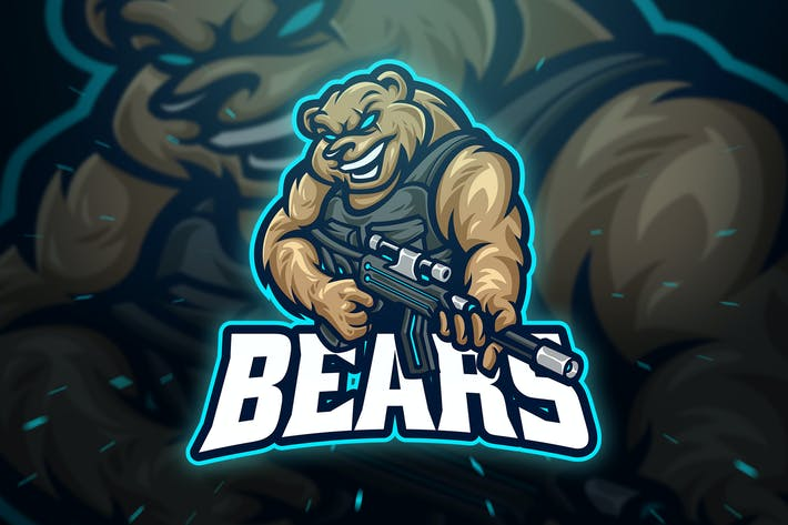 Thumbnail for Медведи Снайпер Спорт и Эспорт Логотип