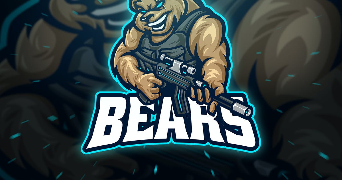 Download Bears Sniper Sport and Esport Logo by Blankids