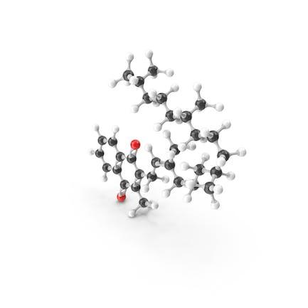 Phytomenadione (Vitamin K1) Molecular Model