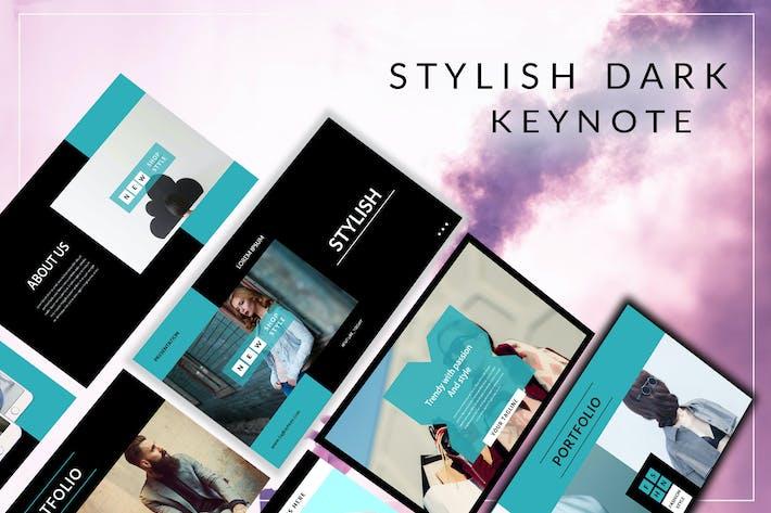 Thumbnail for Stylish Elegant Dark Keynote Template