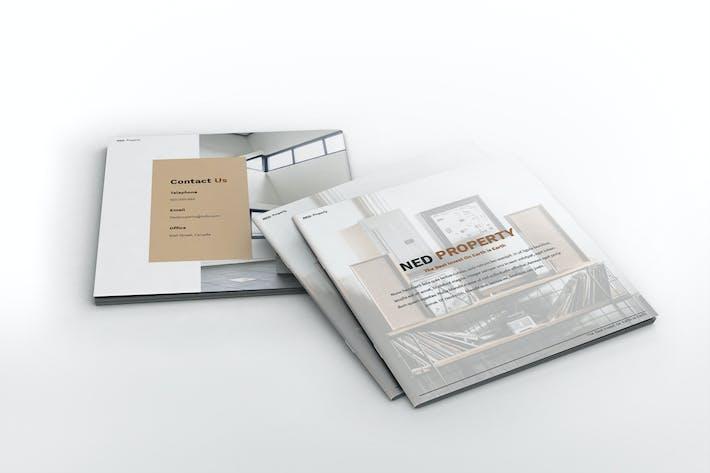 Thumbnail for Modèle de brochure carrée de propriété appartement