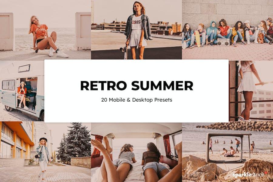 20 Retro Summer Lightroom Presets & LUTs