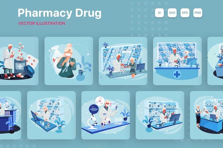 Аптечный препарат Иллюстрация
