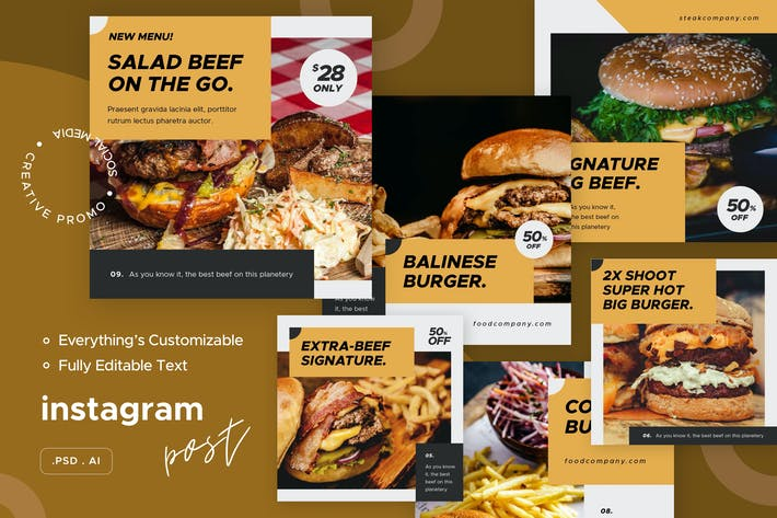 Messages Instagram culinaires