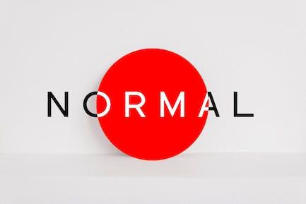 NORMAL - Minimalista Sans Con serifa Tipo de letra + WebFonts