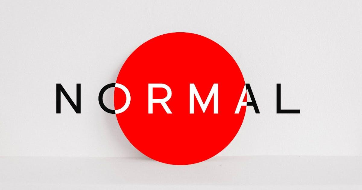 Download NORMAL - Minimal Sans Serif Typeface + WebFonts by designova