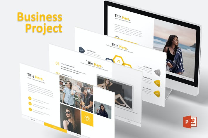Cover Image For Business Project - Powerpoint Template