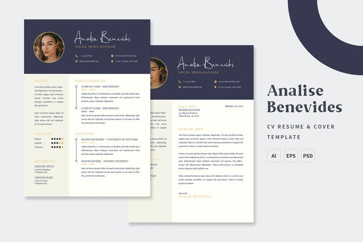 Thumbnail for Analise - CV & Resume Templates