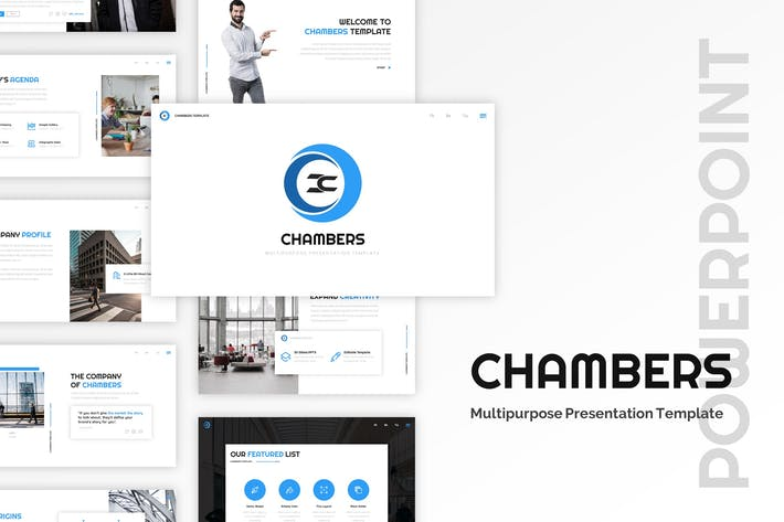 Thumbnail for Chambers - Business Powerpoint Template