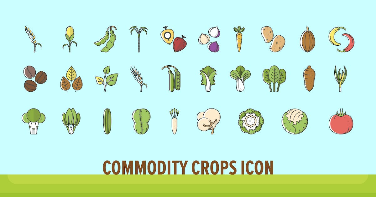 Download Commodity Crops Icon by vintagio