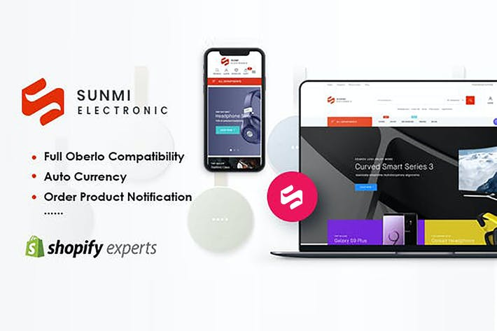 Thumbnail for Sunmi - Electronics Responsive Shopify Tema